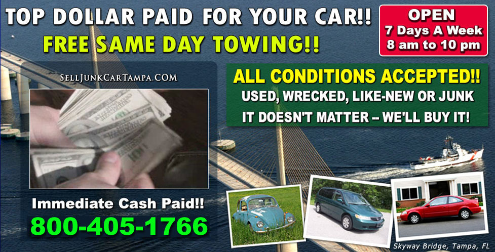 Sell Used Cars | Sell Junk Car Tampa